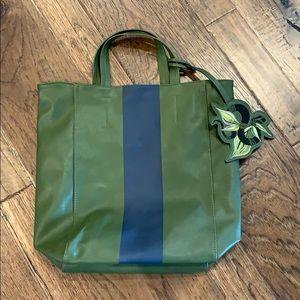 Saks Fifth Avenue shoulder bag with purse charm